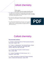 Colloid chemistry - Lectures 1 and 2
