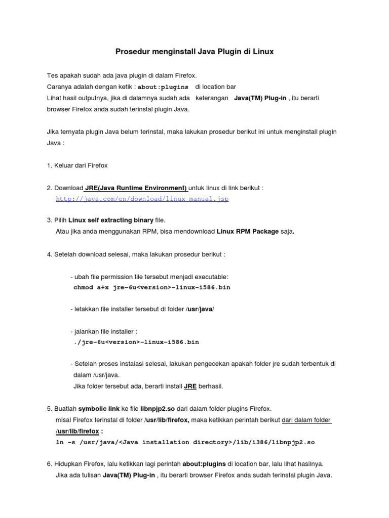 Instal Java Di Firefox