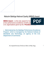 Baldrige Performance Program - MBNQ Award