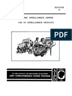 ARMY Use of Intelligence Products IT0552 1993 135 Pgs