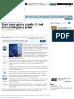Euro Zone Govts Ponder Greek Exit Contingency Plans - Reuters
