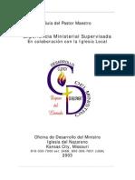 Experiencia Ministerial Supervisada