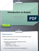 Introduction to Surpac