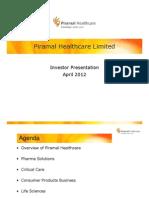 Piramal Healthcare Limited - Investor Presentation April 2012