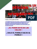 Noticias Uruguayas Viernes 29 de Junio Del 2012