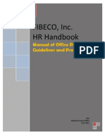 FIBECO Manual of Policies and Procedures