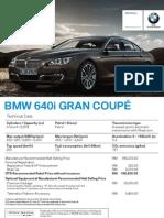 Spec Sheet - The All-New BMW 6 Series Gran Coupé (FINAL)