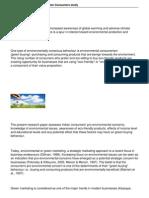 994 Green Buying Behavior in Indian Consumers Study