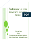 New Investment Law and Opportunities for Foreign Investors