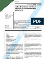 NBR 14321 (1999) - Paredes de Alvenaria Estrutural - Determinacao Da Resistencia Ao Cisalhamento