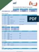 ICC World Twenty20 2012 Match Schedule