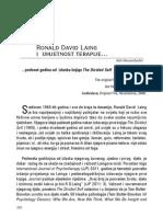 Ronald David Laing i umjetnost terapije... Adi Hasanbašić