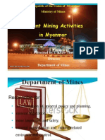 Current Mining Activities in Myanmar