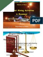 Current Mining Activities in Myanmar