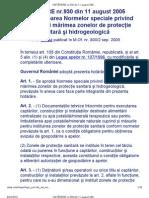 HOTĂRÂRE 930-2005- Zona protectie sanitara