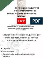 Segurança de Recarga de Aquíferos por meio dos Instrumentos da Política Nacional de Recursos Hídricos