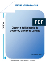 Intervención de Gabino de Lorenzo, Delegado del Gobierno en Asturias, en la Asamblea General de FADE