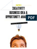 Creativity, The Business Idea and Opportunity Analysis
