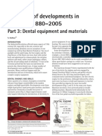 125 Years of Developments in Dentistry