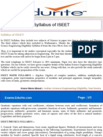 Syllabus of ISEET