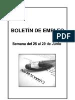 BOLETIN DE EMPLEO Nº 7 SEMANA DEL 25 AL 29 DE JUNIO 2012