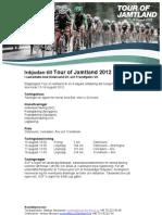 Inbjudan Tour of Jamtland 2012 Elit