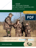 NSSF - American's Attitudes towards Hunting, Fishing and Target Shooting - 2011