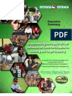 NSSF  - Understanding the Impact of Peer Influence on Youth Participation in Hunting and Target Shooting - 2012