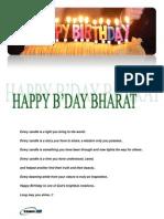 Bharat Bday
