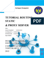Tutorial Routing Static Dan Proxy Server