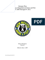 New Mexico Department of Game and Fish 2008-2012 Strategic Plan