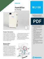 Desiccant Dehumidifier ML1100