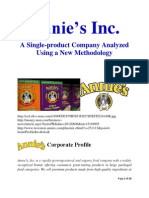 Annie's Inc. A Single-Product Company Analyzed Using a New Methodology