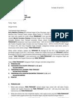 Replik Terkait Gugatan PMH Pada Tender Di Dinas PU Kab. Minahasa Utara APBD 2011