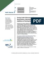 Existing Building Energy Code Enforcement