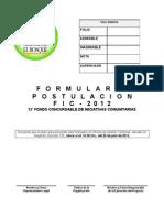 Formulario FIC 2012