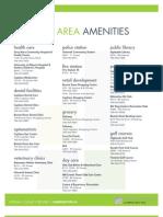 Urban Village Phase III Amenity Sheet