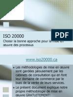 ISO 20000 - Choisir la bonne approche pour la mise en œuvre des processus