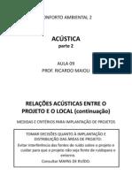 Conforto Ambiental 2 - Aula 9 - Acustica