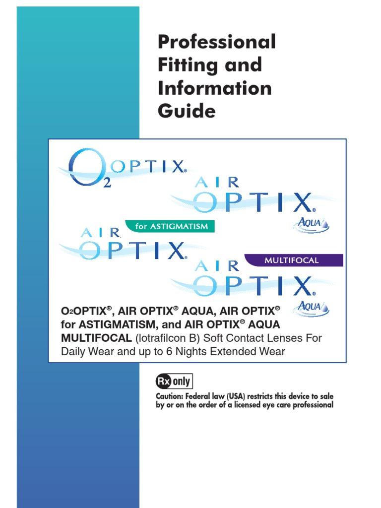 Air Optix Guide Contact Lens Lens Optics
