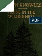 Alone in the Wilderness - Joseph Knowles