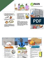 Separar Siempre Los Alimentos Crudos Delos Cocidos y Delos Listos Para Consumir