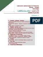 LAMPEA-Doc 2012 - numéro 24 / vendredi 29 juin 2012