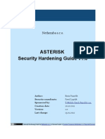 Asterisk Security Hardening 1.0