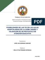 Posibilidades de las TIC en las aulas hospitalarias de la CARM