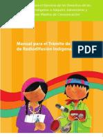 Manual para el Trámite de Permisos de Radiodifusión Indígena