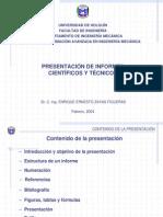 Presentacion Informes Cientificos Tecnicos