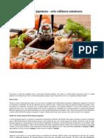 Bucataria japoneza - arta culinara sanatoasa