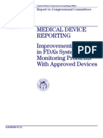 GAO - 1997 FDA Medical Device Reporting Needed Improvements