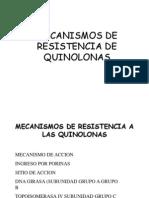Mecanismos de Resistencia de Quinolonas